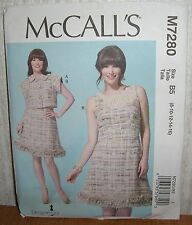 Womens/Misses Jacket & Dress Sewing Pattern/McCall's M7280/SZ 8-16/UCN