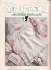 Leisure Arts Christening Ensemble Baby Crochet Patterns Book 9 Designs See PICS