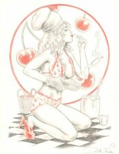 Sweet Cherry Pie Pencil Piece - Signed art by David Boller