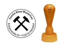 Adressenstempel « BERGBAU ZUNFT » mit Kissen Firmenstempel Glück Auf Kumpel