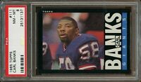 1985 Topps FB Card #111 Carl Banks New York Giants ROOKIE CARD PSA NM-MT 8 !!!