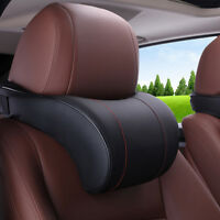 Memory Foam Car Neck Pillow PU Leather Seat Neck Rest travel Headrest Cushion