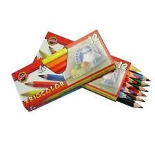 KOH-I-NOOR TRIANGULAR 12 PIECE SET TRICOLOR COLOURING PENCILS CRAYONS CZECH MADE