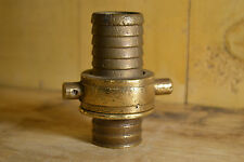 "Vintage 3 Lot Fire Hose Brass Attachments/Coupling Coupler ""Free Ship"""