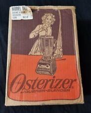Vintage Osterizer 10 speed  blender Model # 847-31 Black/chrome!! Rare !!!