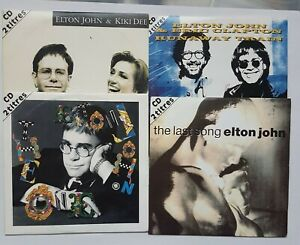 "ELTON JOHN ♦ LOT 4 x FRENCH CD SINGLE ♦ Queen cover remixed, 12"", clapton, Dee"