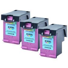3PK Compatible HP 61XL 61 XL Color Ink for DeskJet 1000 1010 2542 3000 3050 3055