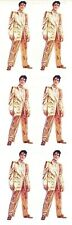 ~ Elvis Presley Musical Artist Gold Suit King Paper House StickyPix Stickers ~