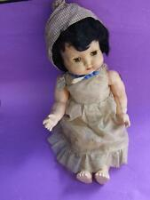 ANTIQUE RODDY ENGLISH DOLL 15'' HARD PLASTIC  - SILKY DRESS 1950's