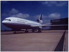 FOTO originale DC10 CONTINENTAL AIRLINES at ALITALIA Fiumicino maintenance area