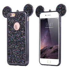 Bling 3D Cute Mouse Ear Glitter Soft TPU Rubber Gel Phone Case For iPhone 6 6s