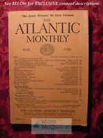 ATLANTIC May 1922 Lucy Furman James Stephens Bertrand Russell Kirby Page