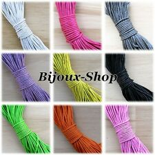 10 M de fil cordon coton ciré diamètre 1 mm