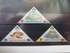 Ascension 1973 Turtles set of 3, hinged mint