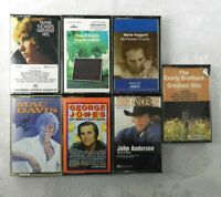 7 Classic Country Cassette Tapes Merle Haggard George Jones Tanya Tucker Everly