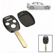 4 Button Remote Key Fob Shell Fob W/ Uncut Blade For HONDA Accord Replacement