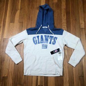 New York Giants 47 Brand Women's Small Hoodie. New NWT White Sweatshirt. NFL