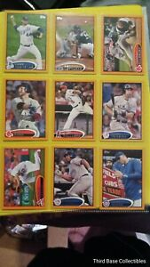 2012 Topps Card Lot Of 9 Numbered out of 190