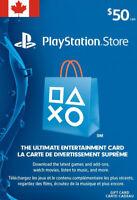 PlayStation Network Gift Card 50 CAD - PSN Store Card - PS3/ PS4/ PS Vita - CA