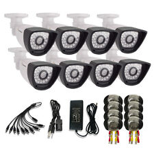 8x CCTV Security Camera 800TVL Weatherproof CMOS Outdoor IR-CUT Night Vision