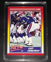 1990 GARY ZIMMERMAN - ALL PRO - DETROIT LIONS - Score NFL Football Card #586