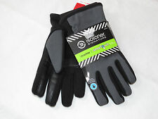 Isotoner Signature Mens THERMAflex SmarTouch Tech Stretch Gloves L A60063 blk gr