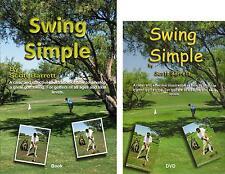 SWING SIMPLE BOOK & DVD GOLF INSTRUCTION BY SCOTT BARRETT FULL SWING