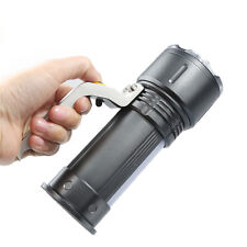 High-power Zoom Red White Light Flashlight CREE XPE LED 3 Modes 5000LM Penlight