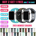 For Apple Watch Sport Band Silicone iWatch Series 7654321 SE 45/41/44/40/42/38mm