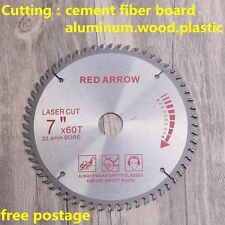 "Circular Saw Blade 180mm 7""X2.4mmX25.4X60T Timber Aluminium Alloy Plastic Wood"