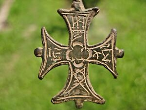 ANCIENT AMULET CROSS Viking Kievan Rus