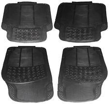 4 Piece Duty Front & Rear Waterproof Black Rubber Audi A4 A6 Car Floor Mats Set