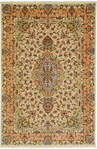 Täbrizi 600.000 Kn / Qm, With U. On Silk Persian Carpet Oriental Rug 3,00 X 2,04