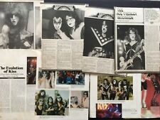 KISS 10 Full Page  Magazine Pinup's / Clippings
