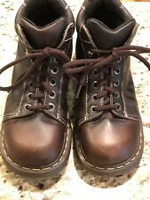 Dr Martens Brown Leather Boots Unisex Men Size 8 US Women Size 9.5 Or 10
