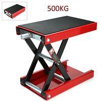 500KG Motorbike Motorcycle Table Bench Workshop Scissor Lift Jack Stand Paddock