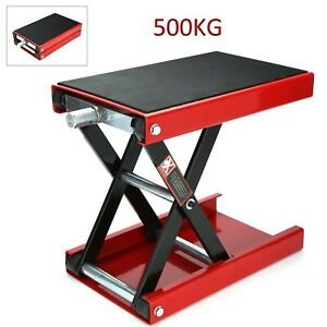 500KG Motorbike Motorcycle Table Bench Workshop Scissor Lift Jack Stand Paddock