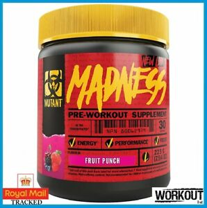 Mutant Madness Pre Workout Energy Pump Focus 30 Servings ALL FLAVOURS
