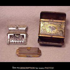 Antique 1901 Kampfe Bros Star Safety Razor 2 Blades Original Tin Case
