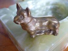 Skulptur Hund Terrier Bronze Walter Bosse Ära 50er 70er Brass Figur Schäferhund
