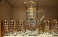 7 PC Vintage culver glassware Bar Set
