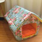 Indoor Canvas Pet Dog Cat House Beds Kennel Tent Mat Coushion Cotton Size S,M,L