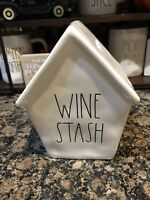 """NEW"" Rae Dunn by Magenta Birdhouse ""WINE STASH"" Bank (HTF)"