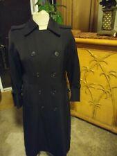 Vintage burberry all wool burella trench coat women size 6 petite