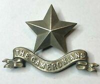 WW1 The Cameronians Scottish Rifles Regiment PIPERS GLENGARRY Cap Badge Originl
