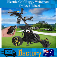 Virtual Electric Powered Golfing Buggy W/Some Distance Trolley 3-Wheel 36 Holes