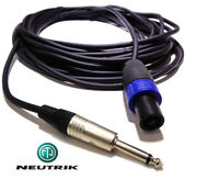 6m NEUTRIK® SPEAKON to 6.35mm Jack Speaker Lead Cable AMPLIFIER lead PA DJ Stage