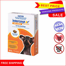 Interceptor Spectrum Heartworm Worm control 6 chews for Dog Upto 4 Kg Brown Pack