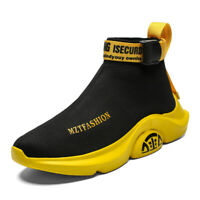 Men's Runing Sneakers Breathable Outdoor Sports Casual Athletic Sock-Like Shoes