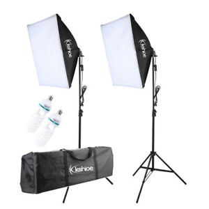 2x Softbox Continuous Lighting Kits Photo Studio Photography with Light Stand
